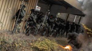ćwiczenia grupy realizacyjnej fot. policja Poznań