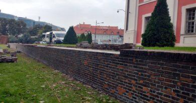 park Chopina, mur oporowy fot. ZZM