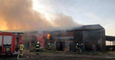 pożar fot. OSP KSRG Miejska Górka