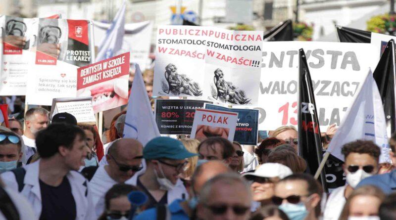 protest ochrony zdrowia fot. Naczelna Izba lekarska