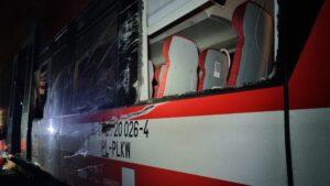 uszkodzony szynobus fot. KM PSP Poznań